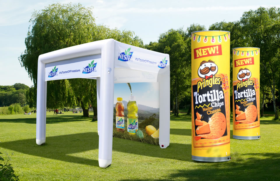 Cube shape inflatable event tent PROMOPARK by AXION4EVENT