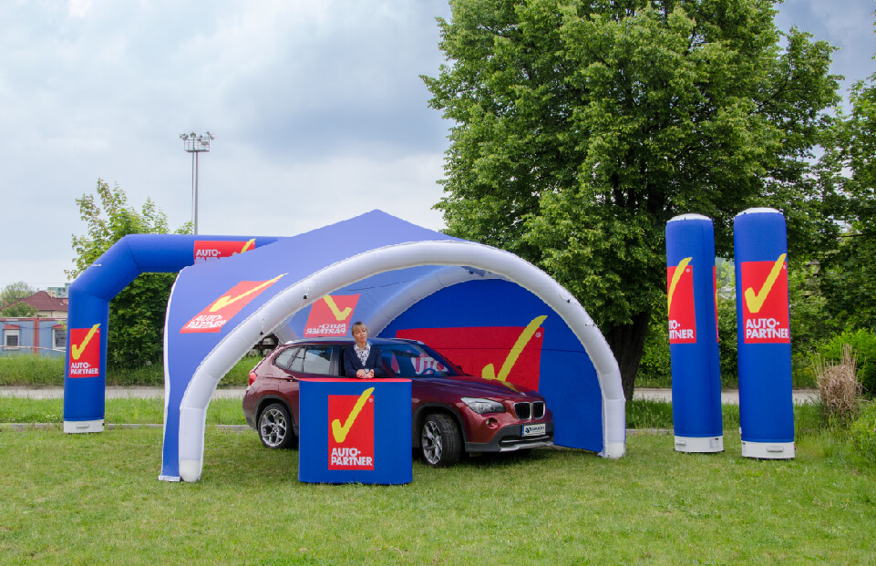 Tripod Auto Partner event tent AXION4EVENT