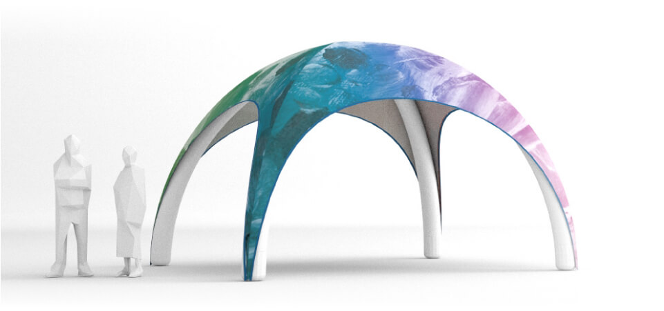 Tent can be printed with any color