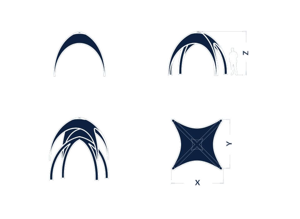 Information sketch of Lite shape inflatable for event tent